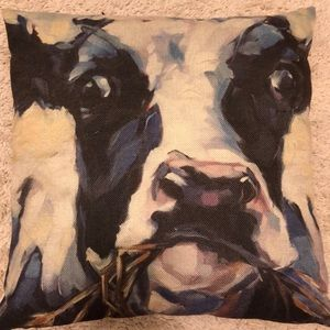 Cow accent pillow